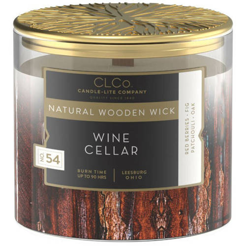 Candle-lite CLCo Candle Natural Wooden Wick 14 oz luxury scented candle ~ 90 h - No. 49 Velvet Woods