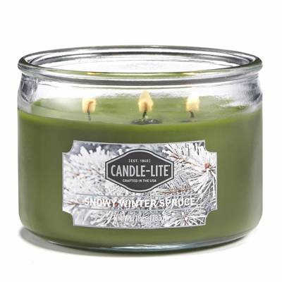 Candle-lite Everyday Collection 3 Wick Terrace Jar Glass Scented Candle 10 oz 283 g - Snowy Winter Spruce