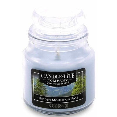 Candle-lite Everyday Collection Scented Small Jar Glass Candle With Lid 3 oz 95/60 mm - Hidden Mountain Pass