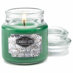 Candle-lite Everyday Collection Scented Small Jar Glass Candle With Lid 3 oz 95/60 mm - Snowy Winter Spruce