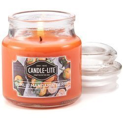 Candle-lite Everyday Collection Scented Small Jar Glass Candle With Lid 3 oz 95/60 mm - Sunlit Mandarin Berry