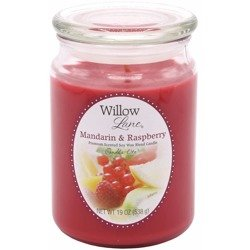 Candle-lite Willow Lane Glass Jar Soy Scented Candle 19 oz 538 g - Mandarin & Raspberry