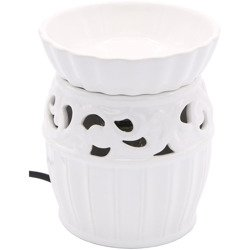 Electric wax burner with removable bowl Mossel - White