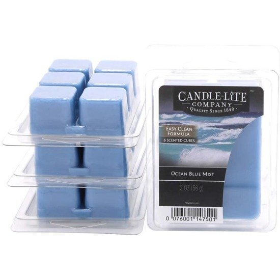 Candle-lite Everyday Collection Highly Fragranced Wax Cubes 2 oz intensywny wosk zapachowy kostki 56 g ~ 60 h - Ocean Blue Mist