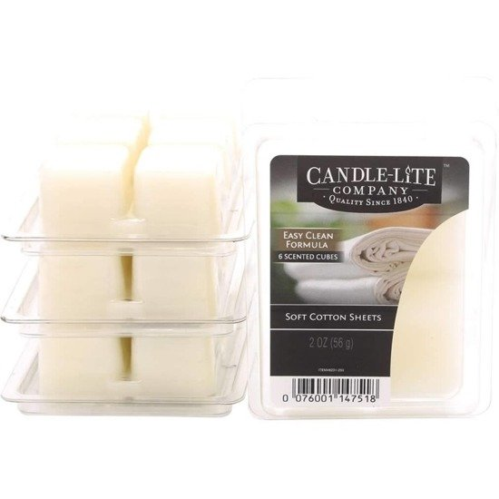 Candle-lite Everyday Collection Highly Fragranced Wax Cubes 2 oz intensywny wosk zapachowy kostki 56 g ~ 60 h - Soft Cotton Sheets